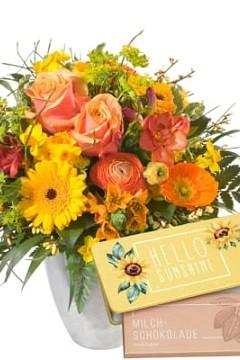 Blumen und Schokolade